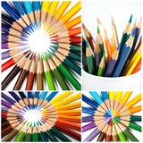 Kleurrijke potloden Royalty-vrije Stock Foto's