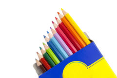 Kleurrijke potloden Stock Fotografie