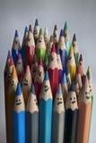 Kleurrijke Potloden Stock Foto