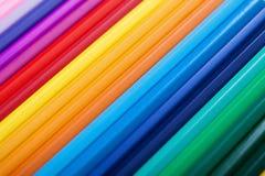 Kleurrijke potloden - achtergrond Stock Afbeelding