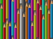 Kleurrijke potloden vectorachtergrond Stock Foto's