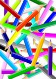 Kleurrijke potlodenchaos backgound royalty-vrije illustratie