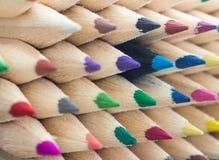 Kleurrijke potlodenmacro Stock Foto