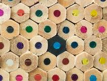Kleurrijke potlodenmacro Stock Foto's