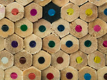 Kleurrijke potlodenmacro Royalty-vrije Stock Afbeeldingen