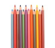 Kleurrijke potloodkleurpotloden royalty-vrije stock afbeeldingen