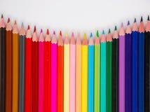 Kleurrijke potloodkleurpotloden Stock Foto's