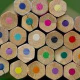 Kleurrijke potloodkleurpotloden, terug naar Schoolconcept Royalty-vrije Stock Foto's