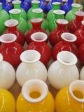 Kleurrijke Potten Stock Afbeeldingen