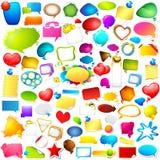 Kleurrijke Praatje en Toespraakbellen jumboinzameling Stock Afbeeldingen