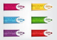 Kleurrijke prijskaartjes Royalty-vrije Stock Foto