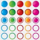 Kleurrijke prijskaartjesinzameling (verkoop) Royalty-vrije Stock Afbeeldingen
