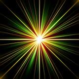 Kleurrijke psychedelische explosie van stellaire energie Stock Afbeelding