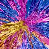 Kleurrijke psychedelische explosie van universele energie royalty-vrije illustratie