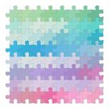 Kleurrijke puzzel op witte achtergrond Royalty-vrije Stock Foto