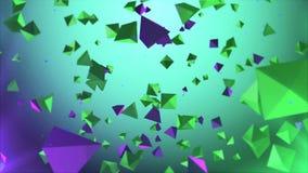Kleurrijke pyramides die in de lucht roteren Royalty-vrije Stock Foto