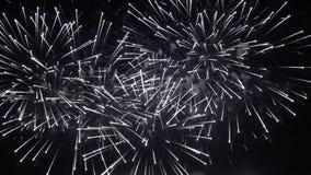 Kleurrijke pyrotechnic toont stock video