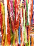 Kleurrijke randen - een deel van mooie met de hand gemaakte ambacht stock foto