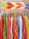 Kleurrijke randen - een deel van mooie met de hand gemaakte ambacht royalty-vrije stock afbeelding