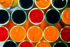 Kleurrijke reageerbuis   Stock Afbeeldingen