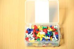 Kleurrijke Rechte spelden Stock Foto's