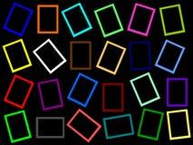 Kleurrijke rechthoekframes helemaal over Stock Afbeelding