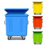 Kleurrijke recyclingsbakken Stock Afbeelding