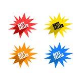 Kleurrijke Reeks Bestselleretiketten Royalty-vrije Stock Afbeeldingen
