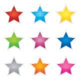 Kleurrijke reeks lege stickers Stock Foto