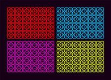Kleurrijke reeks met een patroon vier. Royalty-vrije Stock Foto