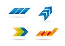 Kleurrijke reeks met vier symbolen. Stock Foto's