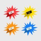 Kleurrijke Reeks Nieuwe Etiketten Royalty-vrije Stock Afbeelding