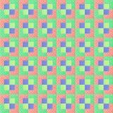 Kleurrijke regeling van katoenen schroot voor Dekbedontwerp Stock Afbeelding