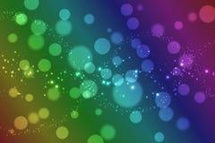 Kleurrijke regenboog bokeh achtergrond royalty-vrije illustratie
