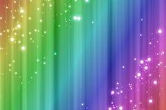 Kleurrijke regenboogachtergrond met vonkeneffect royalty-vrije illustratie