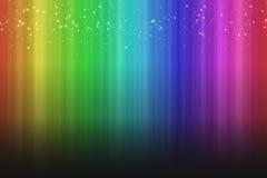 Kleurrijke regenboogachtergrond met vonkeneffect schaduw vector illustratie