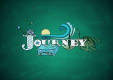 Kleurrijke reisschets op bord royalty-vrije illustratie