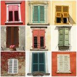 Kleurrijke retro blinden van Italië, Europa royalty-vrije stock foto