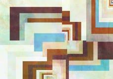 Kleurrijke Retro Document Achtergrond met grungegevolgen vector illustratie