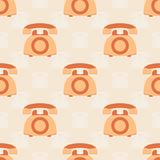 Kleurrijke retro telefoon Naadloos patroon met telefoons vector illustratie