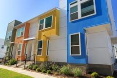 Kleurrijke Rijhuizen in Austin, Texas royalty-vrije stock foto's