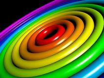Kleurrijke ringen Stock Afbeeldingen