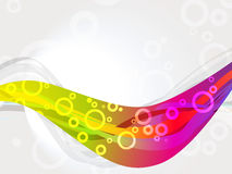 Kleurrijke ringen op achtergrond white.abstract Royalty-vrije Stock Afbeelding