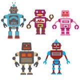Kleurrijke robots Stock Afbeeldingen