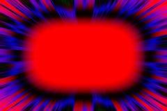Kleurrijke rode starburstexplosie Stock Foto's