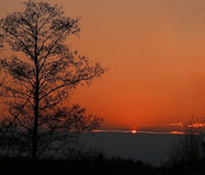 Kleurrijke Rode Zonsondergang royalty-vrije stock fotografie