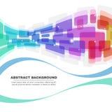 Kleurrijke Rond gemaakte hoeken en de abstracte achtergrond van de lijngolf Stock Afbeeldingen