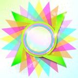 Kleurrijke Rond gemaakte Lege Achtergrond Royalty-vrije Stock Foto