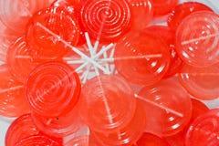 Kleurrijke ronde lolly Stock Foto's