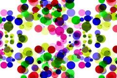 Kleurrijke ronde vorm op witte achtergrond stock afbeeldingen